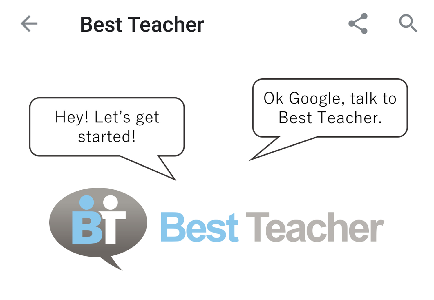 Best Teacher: Google Home(Google アシスタント)アプリ